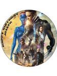 7.5 X-Men Xmen Days of Future Past Personalised Edible Icing or Wafer Paper Cake Top Topper